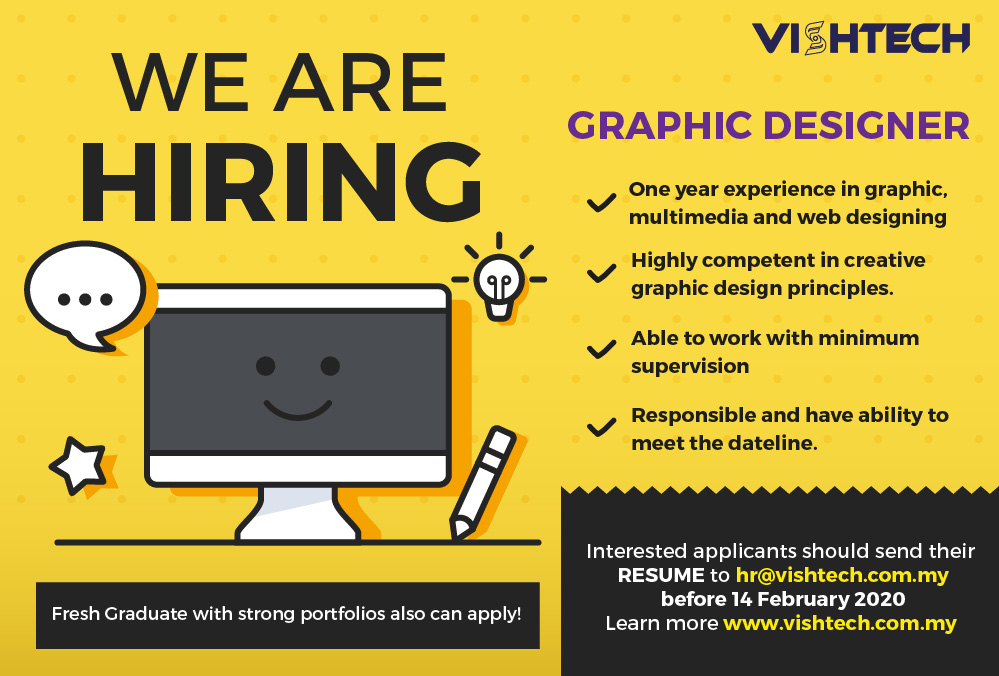 WE ARE HIRING ( GRAPHIC DESIGNER )